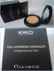 review KIKO Full Coverage Concealer n.02